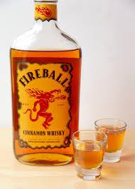 bar inventory Fireball shots