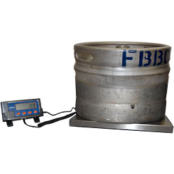 performing inventory on a beer keg - keg scale - Bar-i Liquor Inventory