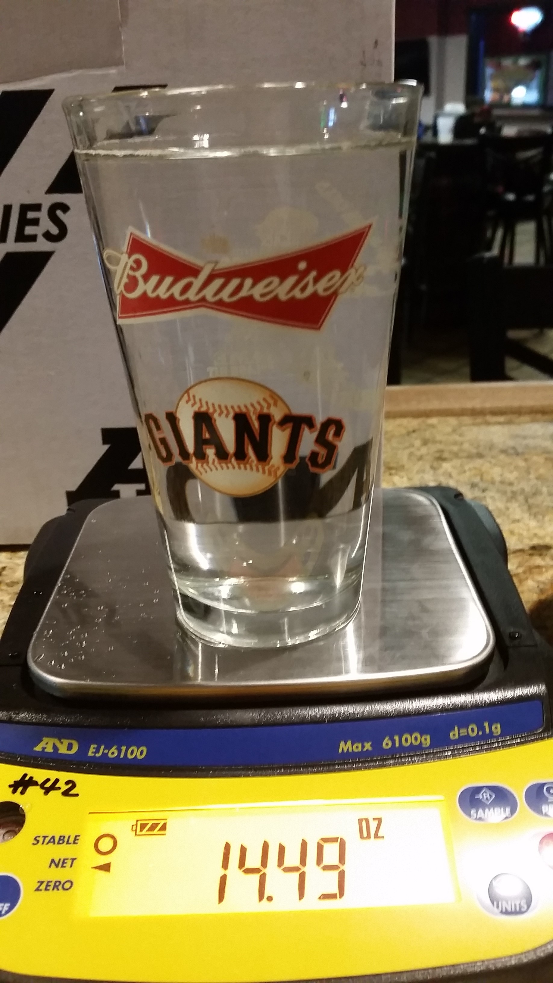 draft beer portion sizes