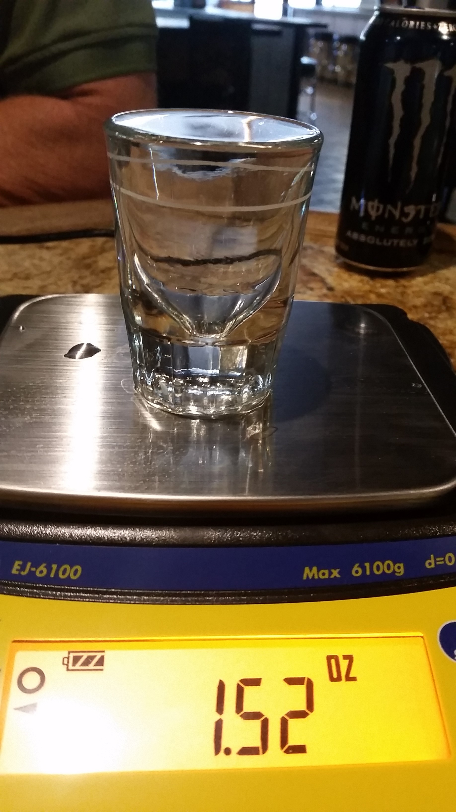portion size for shot glass