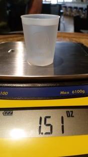 correct portion size for promo plastic shot glass