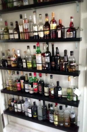 organizing your bar inventory storage area using shelves