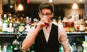 bartender drinking on the job