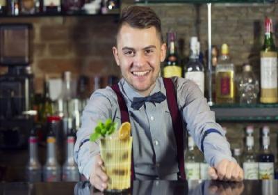 bartender serving a drink - Bar-i bar inventory