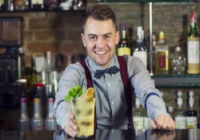 bartender serving a drink - Bar-i bar inventory