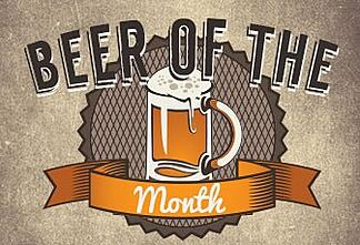 beer of the month logo used for a bar's monthly rotating beer selection