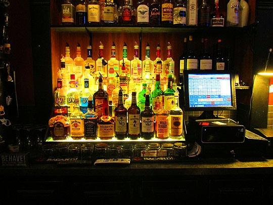 Organization of Bottles behind the Bar