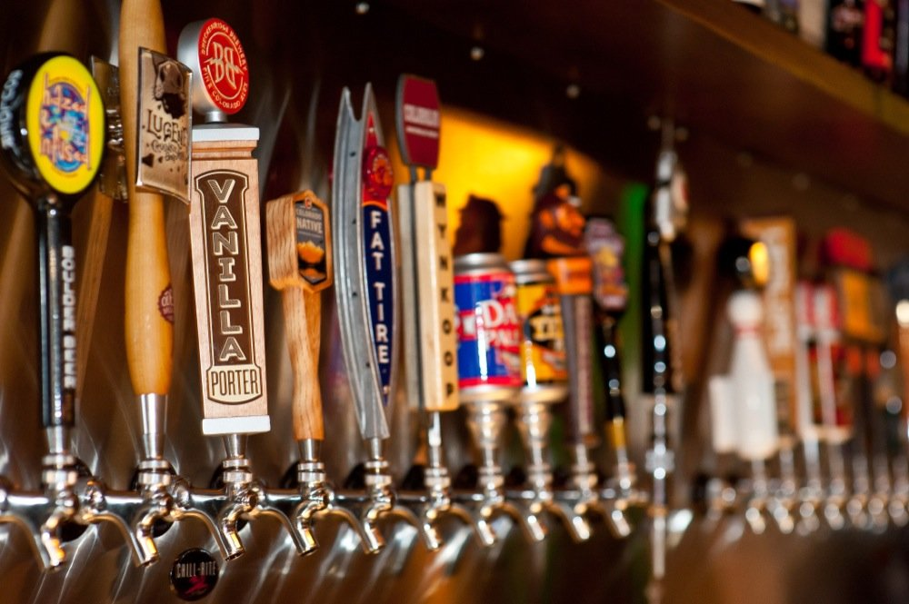 craft beer kegs and taps