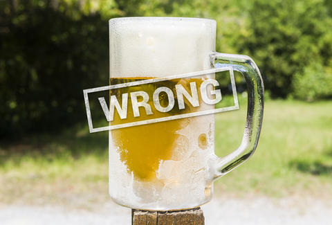 """draft beer mistakes - """"spills"""""""