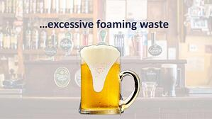 natural waste from draft beer products