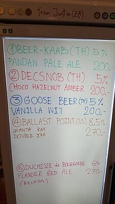 draft beer whiteboard