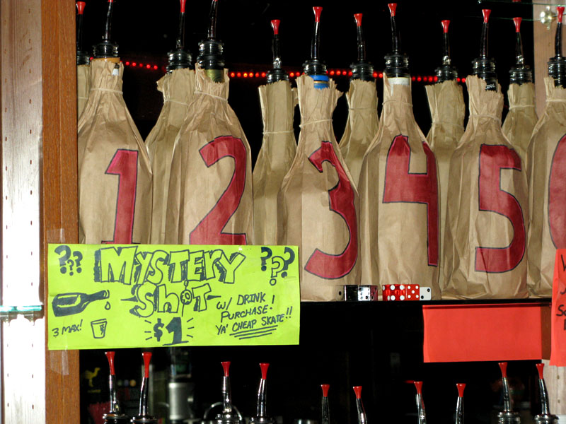 mystery shots to sell dead stock - Bar-i bar inventory