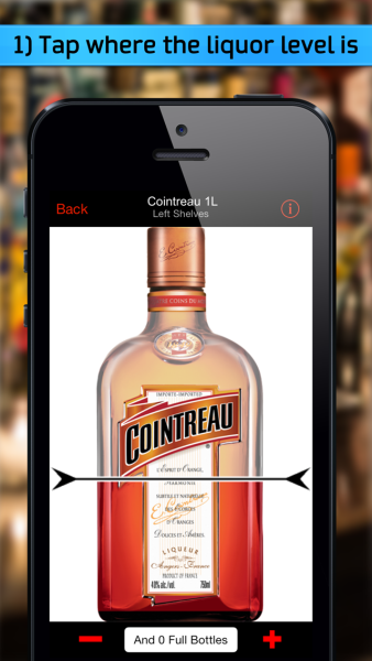 App-based liquor inventory systems