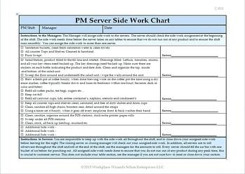 server side-work checklist
