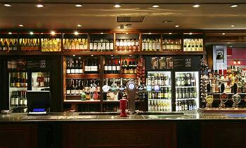 stocked bar prior to performing bar inventory