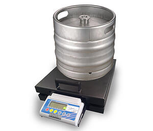 using a keg scale to perform inventory on a beer keg