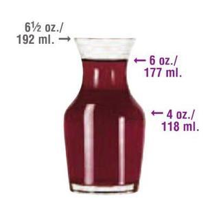 single portion wine carafe