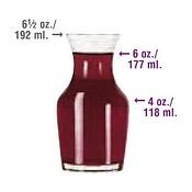 single portion wine carafe